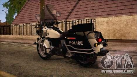 GTA 5 Police Bike para GTA San Andreas left