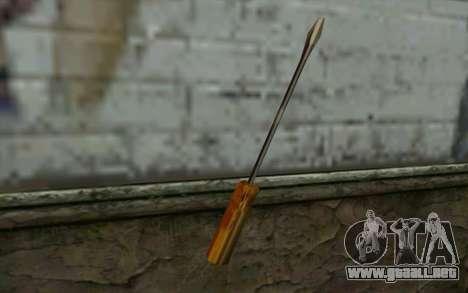 Destornillador (GTA Vice City) para GTA San Andreas segunda pantalla