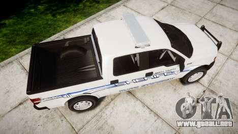Ford F-150 [ELS] Liberty County Sheriff para GTA 4 visión correcta