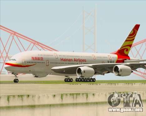 Airbus A380-800 Hainan Airlines para GTA San Andreas left
