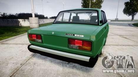 VAZ-2107 inferior para GTA 4 Vista posterior izquierda