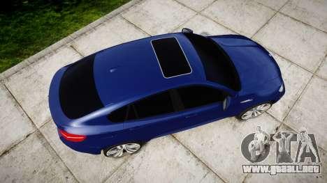 BMW X6M rims1 para GTA 4 visión correcta