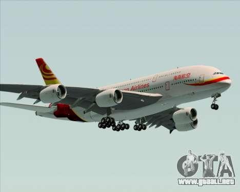 Airbus A380-800 Hainan Airlines para vista lateral GTA San Andreas