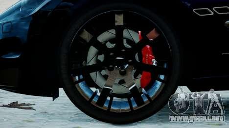 Maserati Granturismo 2012 para GTA 4 Vista posterior izquierda
