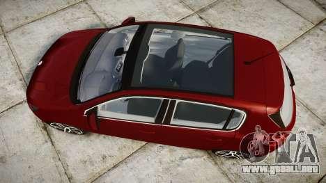 Peugeot 308 2015 para GTA 4 visión correcta