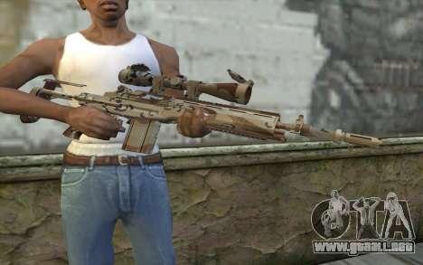 M14 EBR Chipdesert para GTA San Andreas tercera pantalla