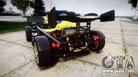 Ariel Atom V8 2010 [RIV] v1.1 Petrolos para GTA 4 Vista posterior izquierda