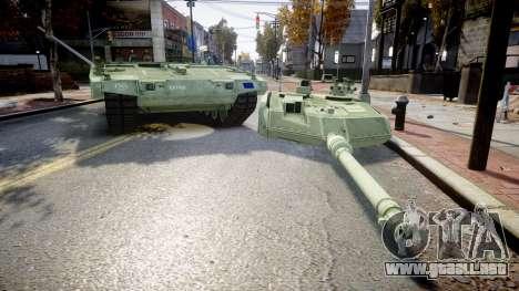 Leopard 2A7 EU Green para GTA 4 vista hacia atrás