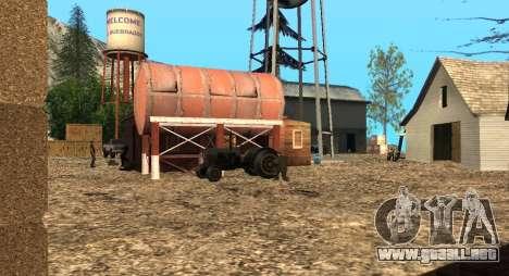 El Altruista campamento en el monte Chiliad para GTA San Andreas sucesivamente de pantalla