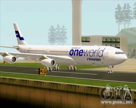 Airbus A340-300 Finnair (Oneworld Livery) para la vista superior GTA San Andreas