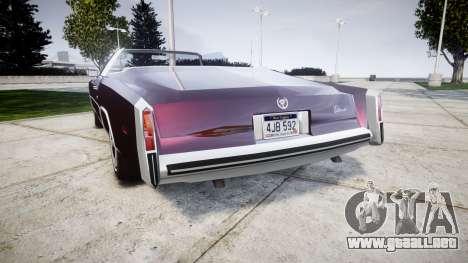 Cadillac Eldorado 1978 para GTA 4 Vista posterior izquierda