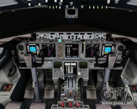 Boeing 737-800 House Colors para GTA San Andreas interior