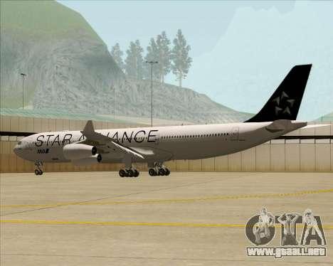 Airbus A340-300 All Nippon Airways (ANA) para vista lateral GTA San Andreas