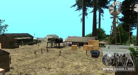 El Altruista campamento en el monte Chiliad para GTA San Andreas séptima pantalla