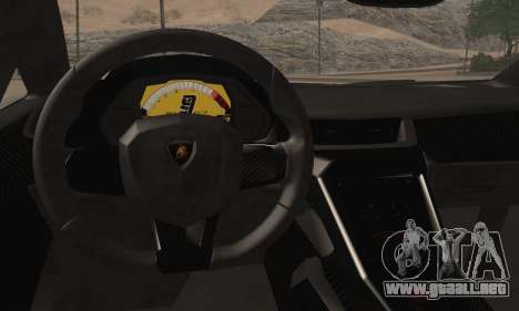 Lamborghini Veneno LP750-4 White Black 2014 para GTA San Andreas vista posterior izquierda
