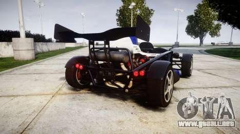 Ariel Atom V8 2010 [RIV] v1.1 Sheriftizer para GTA 4 Vista posterior izquierda