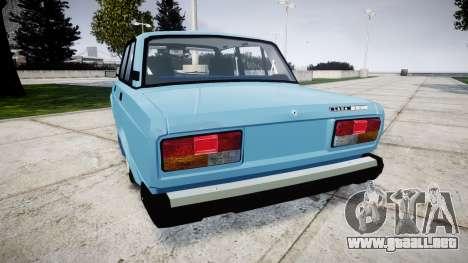 VAZ-2107 mejor modelo para GTA 4 Vista posterior izquierda