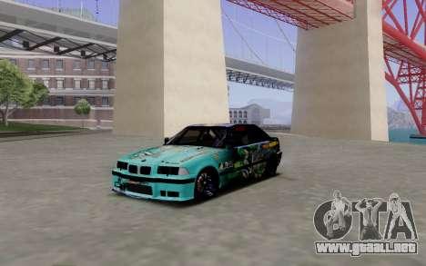 BMW M3 E36 Gorilla Energy Team para GTA San Andreas left