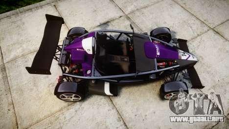 Ariel Atom V8 2010 [RIV] v1.1 FOUR C Motorsport para GTA 4 visión correcta