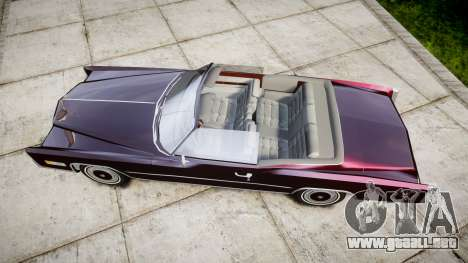 Cadillac Eldorado 1978 para GTA 4 visión correcta
