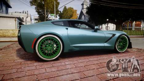 Chevrolet Corvette Z06 2015 TireKHU para GTA 4 left