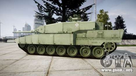 Leopard 2A7 EU Green para GTA 4 left