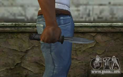 Retextured Knife para GTA San Andreas tercera pantalla