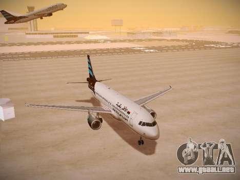 Airbus A320-214 Afriqiyah Airways para GTA San Andreas vista hacia atrás