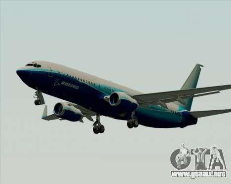 Boeing 737-800 House Colors para GTA San Andreas vista posterior izquierda