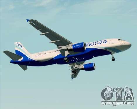 Airbus A320-200 IndiGo para vista inferior GTA San Andreas