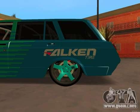 ESTOS 2104 Falken para GTA San Andreas vista posterior izquierda