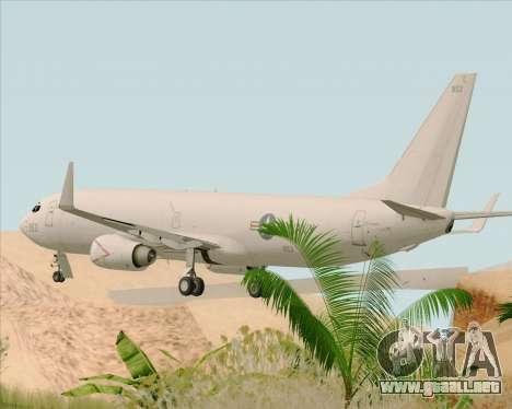 Boeing P-8 Poseidon US Navy para GTA San Andreas vista posterior izquierda