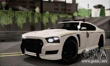 Bravado Buffalo S Police Edition (HQLM) para GTA San Andreas vista hacia atrás