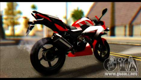 Honda All New CBR150R para GTA San Andreas left