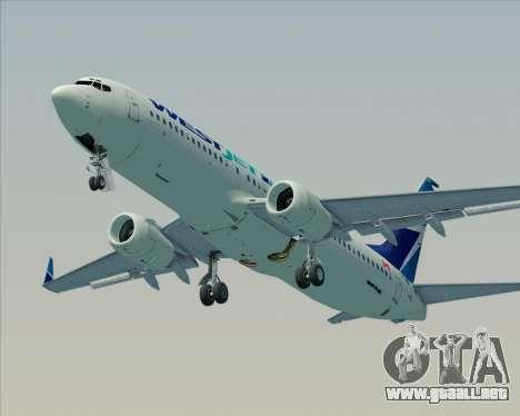 Boeing 737-800 WestJet Airlines para el motor de GTA San Andreas
