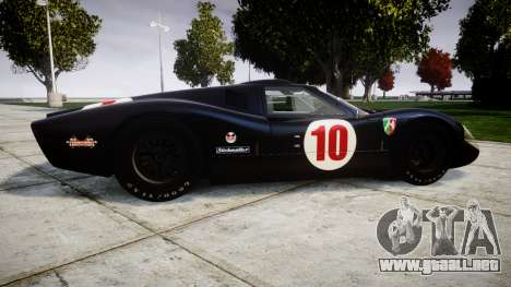 Ford GT40 Mark IV 1967 PJ Scuderia Westfalia 10 para GTA 4 left