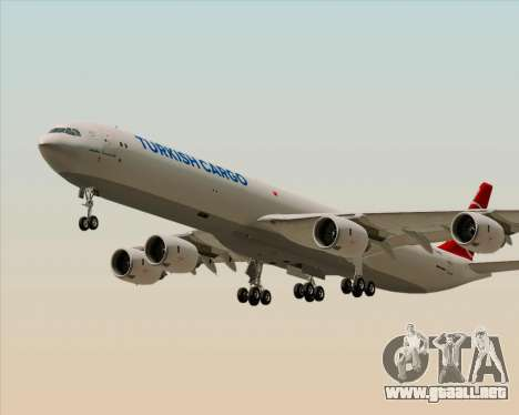 Airbus A340-600 Turkish Cargo para visión interna GTA San Andreas