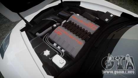 Chevrolet Corvette C7 Stingray 2014 v2.0 TireMi4 para GTA 4 vista lateral