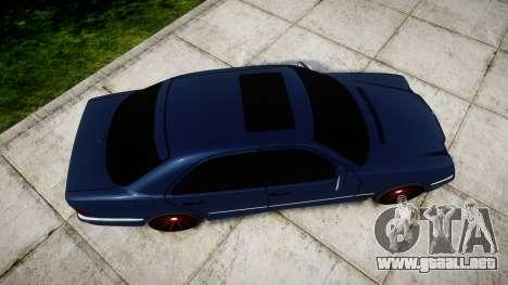 Mercedes-Benz W210 E55 2000 AMG Vossen VVS CVT para GTA 4 visión correcta