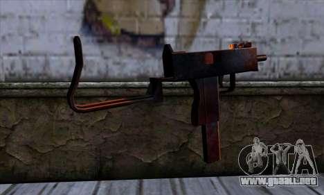Micro Uzi v2 Rusty-sangriento para GTA San Andreas segunda pantalla