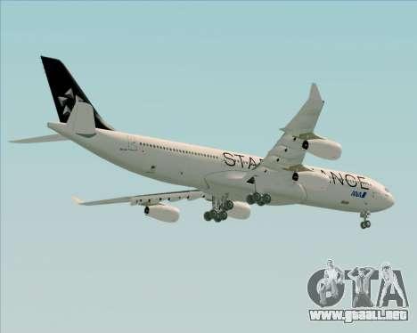 Airbus A340-300 All Nippon Airways (ANA) para la visión correcta GTA San Andreas
