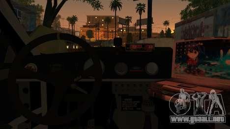 Ford Mustang GT-R Police para GTA San Andreas vista posterior izquierda