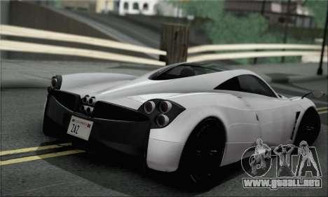 Pagani Huayra TT Ultimate Edition para GTA San Andreas left