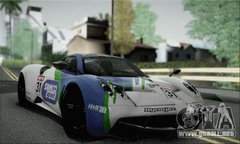 Pagani Huayra TT Ultimate Edition para visión interna GTA San Andreas