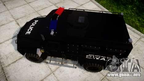 SWAT Van para GTA 4 visión correcta