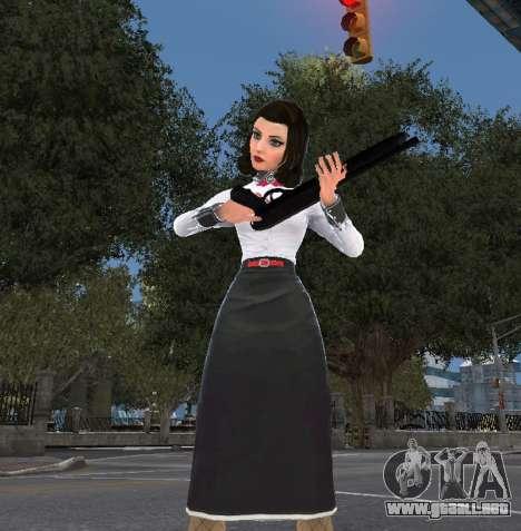 Elizabeth de Bioshock Infinite: el Entierro En e para GTA 4 tercera pantalla