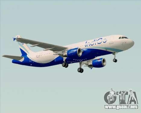 Airbus A320-200 IndiGo para las ruedas de GTA San Andreas