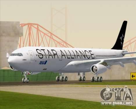 Airbus A340-300 All Nippon Airways (ANA) para GTA San Andreas left