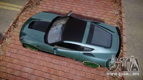 Chevrolet Corvette Z06 2015 TireKHU para GTA 4 visión correcta