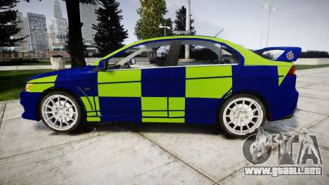 Mitsubishi Lancer Evolution X Police [ELS] para GTA 4 left
